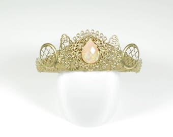 Faux Opal and Gold Filigree Tiara - by Loschy Designs