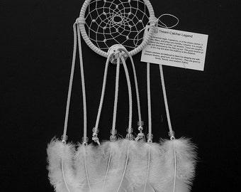 White Dream Catcher, Turkey Flat Feathers