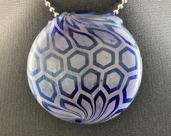 Glass Pendant Bead Honeycomb Silver Fume (12) - Dan Rushin