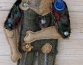 Art Doll OOAK - Wall Art Décor - Flat Like Paper Dolls - Gypsy Moon Dream Weaver Folk Art - Paulas Doll House - Paula McGee
