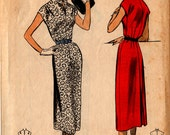 1954 Misses SEW EASY DRESS Pattern Advance #6679 Size 14 B32 Vintage Sewing Slim Lines