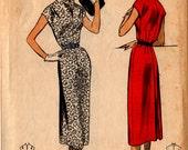 1954 Misses SEW EASY DRESS Pattern Advance #6679 Size 14 B32 Vintage Sewing Slim Lines
