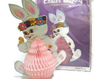 Beistle Easter Bunny Honeycomb Centerpiece | Easter Bunny Table Decoration by Beistle