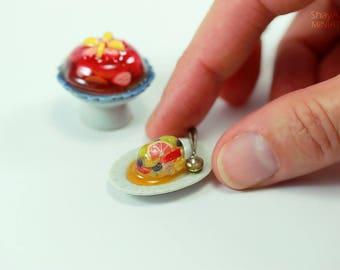 Fruit Jello Dessert - 1:12 Dollhouse Miniature Dessert