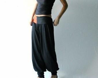 Harem pants, Boho pants, hippie pants, Yoga pants, Cotton pants, Maternity pants, Black pants, Pijama pants, Plus size, Stretch pants