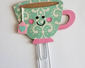 Tea Cup planner Paperclip/ Tea Cup bookmark