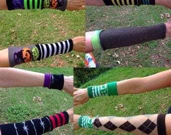 Sock Scrap arm warmers, Mix-n-Match and ready to ship!
