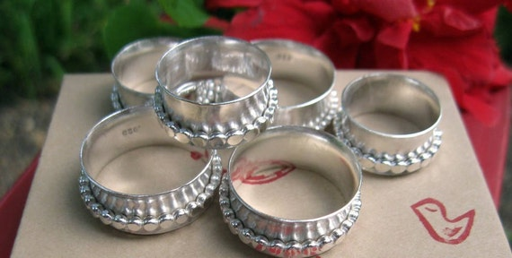 Spin This Spinner Ring  in Sterling Silver- Size 10- Ready to Ship