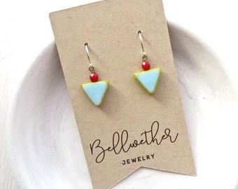 Small Earring Set / Triangle Earrings / Boho Earrings / Gifts Under 15 / Gifts for Teen Girls / Stocking Stuffer / Gift for Coworker