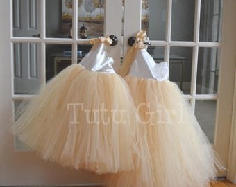 Ivory Champagne Tulle Dress