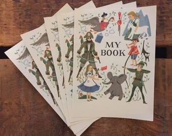 Vintage Bookplates - Set of 4 - Vintage Children's Book, Antioch Bookplates, NOS, Vintage Book Plates, Book Labels, Books for Children