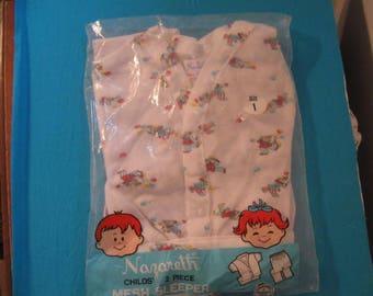 Child's Sleeper Pyjamas size 1 Vintage Mesh Sleeper
