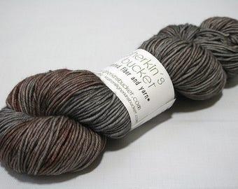Hand Dyed Artisan Yarn, Tonal Kettle Dyed Yarn, Contrast Splash Yarn, SW Merino Wool DK, Lovey Dovey #30317