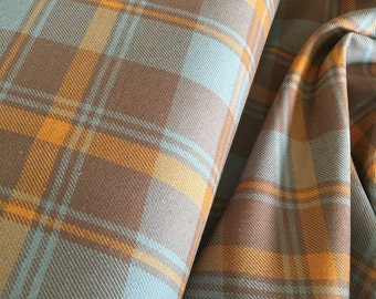 Hipster Plaid fabric, Grizzly Plaid fabric, Plaid by the yard, Lumberjack, Grizzly Plaids, Plaid in Butterscotch -242, Choose the cut