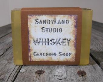 Whiskey  Soap~ Whiskey Gift~ Glycerin Soap~ Men's Gift