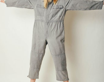 Vintage Gray Work Wear Jumpsuit