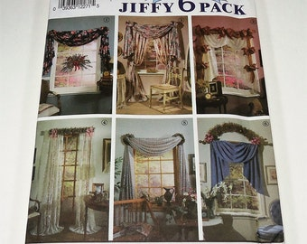 Simplicity Abbie's Jiffy 6 Pack Window Treatment Drapes Curtain Pattern 7721