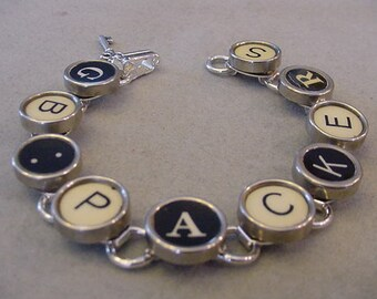 Typewriter key Bracelet GB PACKERS Green Bay Packers Bracelet Packers Jewelry Typewriter key jewelry Steampunk