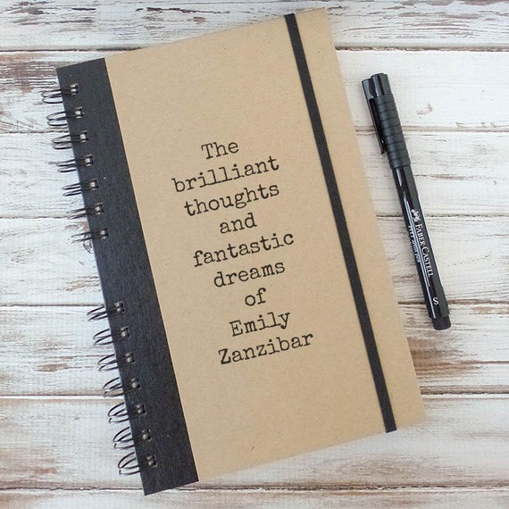 Personalized Journal Graduation Gift for Girlfriend Notebook Best Friend Gift for Coworker Gift for Wife Gift for Women BT2