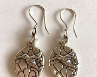 Hummingbird Earrings-Sterling Silver Earrings