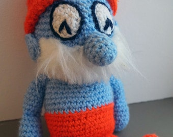 Papa Smurf- 1980s Handmade Crocheted Doll