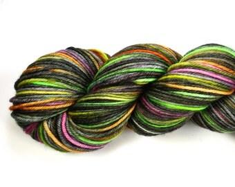 Persephone--hand dyed DK weight yarn, Superwash Merino (250yds/115gm)