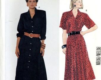 McCall's 3395 Designer Liz Claiborne Shirt Dress Button Front Size 12 Uncut Vintage Sewing Pattern 1987