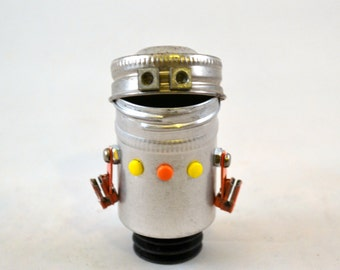 MR. POGO PETE, Assemblage Art Recycled Robot Sculpture