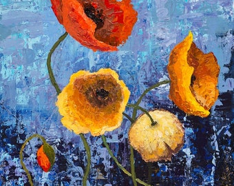 Bright Bouquet of Poppies RESERVED FOR ZOYA
