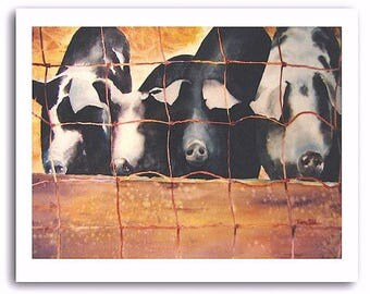 """Pig Art """"Pigs"""" Signed and Numbered Prints"""