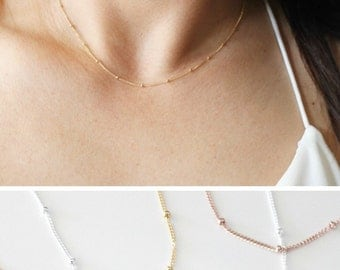 Dainty Necklace, Gold Necklace, Simple Necklace, Layering Necklace, Long Necklace, Delicate Necklace, Everyday Necklace, Bridesmaid Necklace