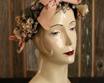 SALE - Flower Fishnet Hat Head Wear