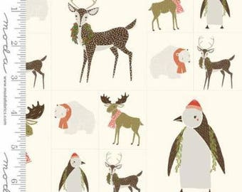MODA Merrily Panel Snow Critters Galore 48211 12 by Gingiber