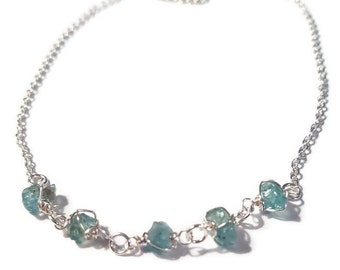 A Piece of the Sky Sterling Silver Apatite Semi Precious Necklace