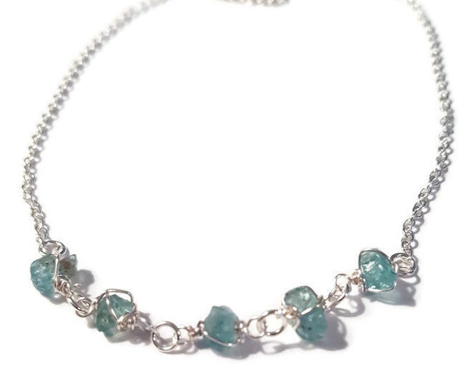 A Piece of the Sky Sterling Silver Apatite Semi Precious Necklace