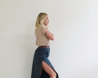 "1980s Cricketeer Silk Skirt /// Size Medium /// 29"" Waist"