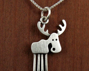Tiny moose necklace / pendant