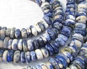 Sodalite Slice ROndelle Beads Free Form, Great Designer Strands , 14mm To 18mm