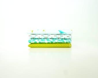 Bluebird Handkerchief Set - Organic Cotton Flannel - Ladies Hankies - Soft Reusable Tissues - Birds - Womens - Gift for Mom - Mothers Day
