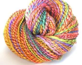 Handspun Yarn Soft BFL WoolYarn Hand Dyed Yarn Bulky Yarn Art Yarn 176 yards - Spring Pastel
