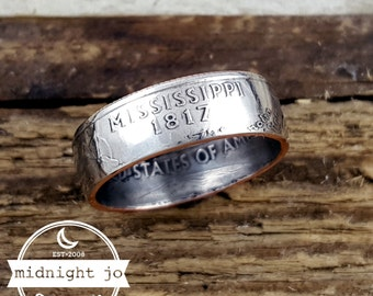 Mississippi Coin Ring Double Sided State Quarter MR0705-TSTMS