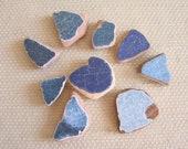 9 Large Glazed Terracotta Sea Tile Shards -- Pendant Sizes (TL143)  Mediterranean Beach Tiles, Statement tiles, Geometric tiles, Mosaic