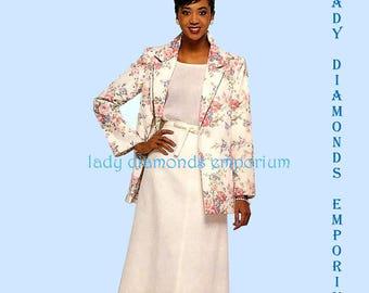 Butterick 5479 Womens A-Line Back Wrap Skirt & Unlined Jacket size 10 12 14 Bust 32.5 34 36 Vintage 80's Sewing Pattern Uncut FF #441
