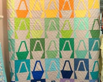 Modern Basket Quilt Block Pattern