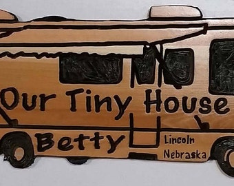 Personalized Class A motorhome RV camp sign
