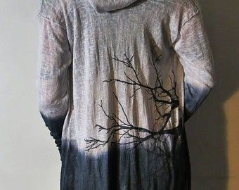 Hell Couture Lavinia Ombre Midi Hoodie Robe