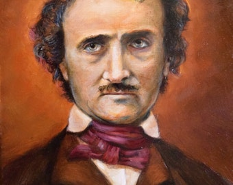 "Print of Edgar Allan Poe - 8""x10"" Print on Archival Paper"