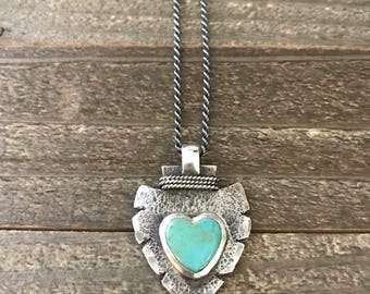 Heart Shaped Turquoise Arrowhead