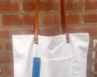 Sailcloth Market Tote with mail bag