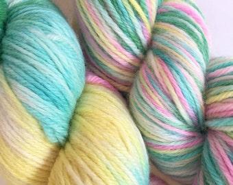 DK YARN Hand Dyed 100% Merino Wool Yarn - 8 Ply in Candy Lane